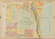 1909 NORTH BERGEN, HUDSON COUNTY, NEW JERSEY NORTH HUDSON PARK PLAT ATLAS MAP