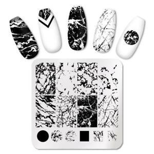 Nail Art Stamping Plates Marble Nail Manicure Nail Art Image Plate Stencil AU