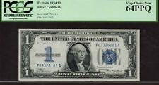 1934 $1 SILVER CERTIFICATE PCGS -VERY CHOICE NEW 64 PPQ