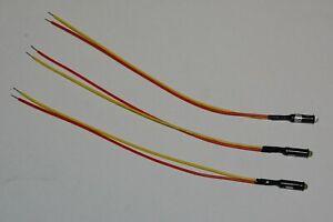 2) Green 1) Blue Mini LED Dash Panel Indicator Lights turn signal street rod 12v