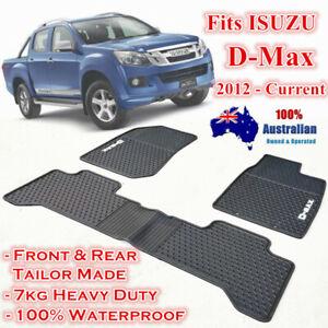 Heavy duty Waterproof Rubber Floor Mats for ISUZU D-MAX DMAX 2012-2020 Dual Cab