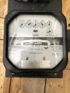 Sangamo Weston Ltd Vintage Electricity Usage Meter 240v 50A Three Phase KWh