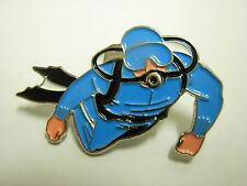 Scuba Diver collectable pin badge. diving Snorkel flippers