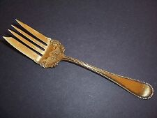 Antique Silverplate Meat Serving Fork Gold Tone Rodgers