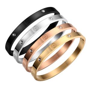 Titanium Steel Carter Love Bracelets Women Men Wedding Jewellery Couple Gift
