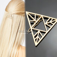 Egypt CHIC Pyramid Triangle French Updo Hair Dress Snap Barrette Pin Clip