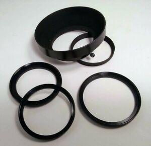 Tokina 55mm Lens Hood 3 Filter Step Up Adapter Rings 52-55 49mm-58mm 58mm-62mm