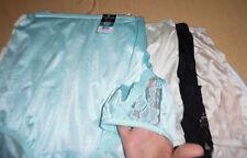 5 Vanity Fair Brief Panty Nylon Lace Nouveau 9 2XL Blue White Black Nude Yellow