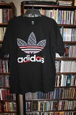 Adidas Scarlet & Gray patterned Trefoil T Tee Shirt Mens XL (b149)