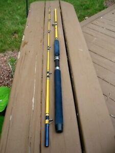 "NICE EAGLE CLAW STARFIRE 2-PIECE TROLLING FISHING ROD WRIGHT MC GILL 7'6"" SF-400"