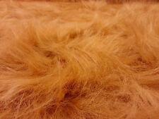Plain honey orange foncé synthétique long hair fur fabric fancy dress craft AC356