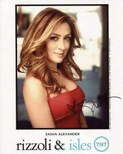 SASHA ALEXANDER HAND SIGNED 8x10 COLOR PHOTO+COA       GORGEOUS+SEXY ACTRESS