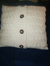 Hand knitted cushion covers