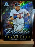 Willians Astudillo RC 2019 Bowman Chrome Mojo Rookie Of The Year Favorites Twins