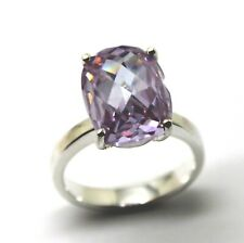 Oval Ring *Free Express Post In Oz* Size R Sterling Silver Cubic Zirconia Pink