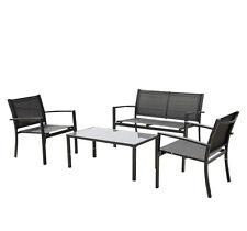 4PCS Outdoor/Indoor Patio Garden Furniture Set Seat Lawn Steel Frame Chair Sofa