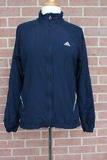 Adidas Women's Jacket Long Sleeve Lightweight Navy Blue Junior Size L fIt like M