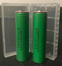 "Brand New ""2"" LG 18650-MJ1 10A 3500mAh High Drain Battery Button Top"