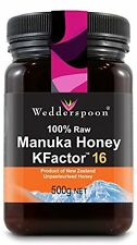Wedderspoon 100% crudo MANUKA miele Active 16 + 500g