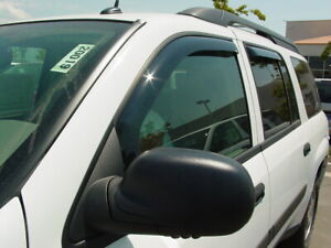 "In-Channel Wind Deflectors: 2002-2006 GMC Envoy XL / XUV (24"" Rear Window)"