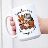 Pumpkin Spice and Everything Nice Coffee Mug Fall Mug Cup Tea Cup