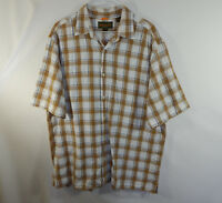 Timberland Button Down Short Sleeve Mens Casual Dress Shirt Size EXTRA LARGE XL