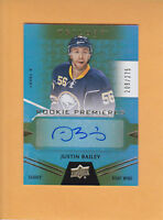 2016 17 TRILOGY SP 275 ROOKIE PREMIERES AUTO # 115 JUSTIN BAILEY SABRES RC