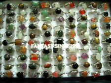 Wholesale 100pcs/lot Mix Lots Womens Ladies Fashion Stone Jewelry Rings Gifts
