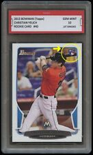CHRISTIAN YELICH 2013 BOWMAN (Topps) 1ST GRADED 10 ROOKIE CARD Milwaukee Brewers