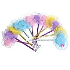 12Pcs New Fashion Cute Plastic Heart Feather Ball Pen Ballpoint Blue Ink Gift