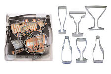 Beverages - Wine, Champagne, Martini, Margaritas, & Beer Cookie Cutter Set