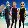 Kids Diving Suit Anti UV Full Body Swimwear Zip Surfing Scuba Elastic Wetsuit