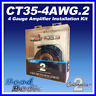 Connects2 CT35-4AWG.2 1600 WATTS 4 Gauge Amplifier Amp Wiring Kit