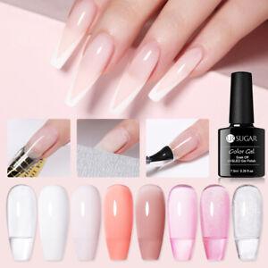 UR SUGAR Clear Pink Quick Extension Nail Gel Liquid Tips Quick Extension Gel
