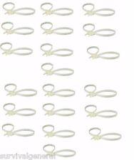 (20) Compact Handcuffs Plastic Disposable Zip Restraints Double D Security Cuffs