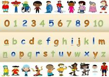 MULTICULTURAL LETTERS & NUMBERS- A4 POSTER -DISPLAY /CHILDMINDER/ CLASS/NURSERY