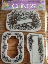 Hero Arts Clings Floral Frames Rubber Stamps *New*
