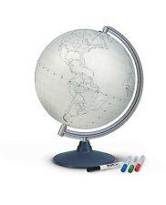 Nova Rico 30cm Blank Educational Globe Supplied with 4 Coloured Fibre Tip Pens