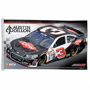AUSTIN DILLON #3 DOW RACING 3' x 5' NASCAR FLAG RCR