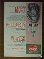 1965 Brooks Robinson~Rawlings MLB Baseball Golves~Mitts Oddball Sports Trade Ad