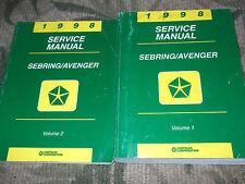 1998 Chrysler SEBRING DODGE AVENGER Service Shop Repair Manual FACTORY OEM BOOKS