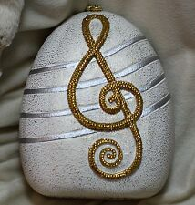 Timmy Woods SWAROVSKI CRYSTAL MUSIC LOVERS SONGBIRD CLEF MINAUDIERE HANDBAG bag