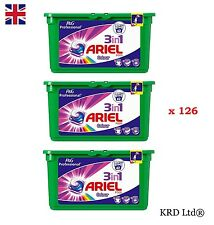 P&G Professional Ariel 3in1 Pods Colour Liquitabs 126 Washes Capsules 3x 42 PACK