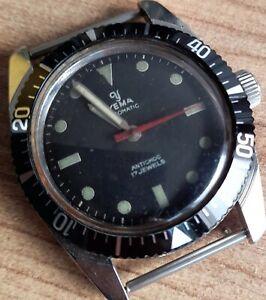 Yema submarine 1970s Automatic Antichoc Vintage Original 17 Jewels Watch French