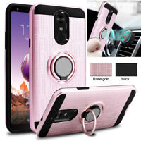 For LG Stylo 5 4 Plus G8 G7 V40 ThinQ K30 G6 Ring Holder Hybrid Armor Case Cover
