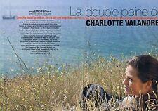 Coupure de presse Clipping 2005 Charlotte Valandrey  (6 pages)