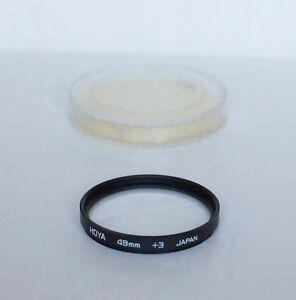 Vintage Hoya 49mm Closeup + 3  Filter