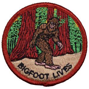 "Bigfoot Patch - Sasquatch, Forest, Bigfoot Lives 2.5"" (Iron on)"