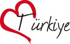 """Auto Aufkleber """" TÜRKIYE """" Sticker Türkei ca.9x14cm konturgeschnitten"""