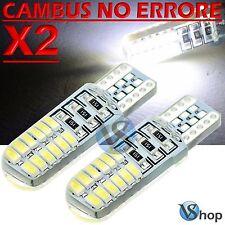 2 LED T10 Lampade 24 SMD BIANCO Gel Silica No Errore Canbus Xenon Lampadine W5